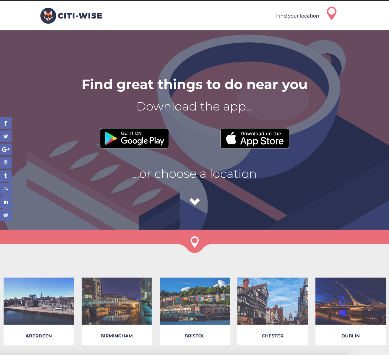 citiWise Site Redesign - Homepage