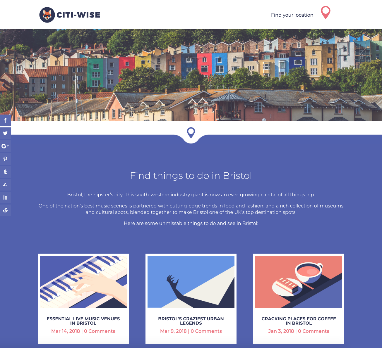 CitiWise Redesign - Location Page